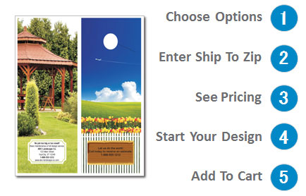 door hanger landscape design option 2
