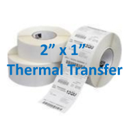 2 x 1 thermal labels