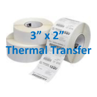 3 x 2 thermal transfer labels