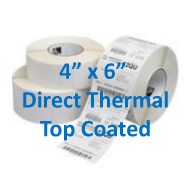 4 x 6 top coated direct thermal labels