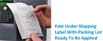 Fold Under Shipping Label Process