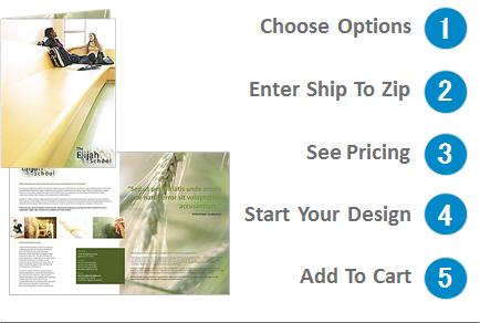 11 x 17 half fold brochure design online