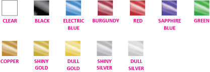 Presentation Folder Foil Colors