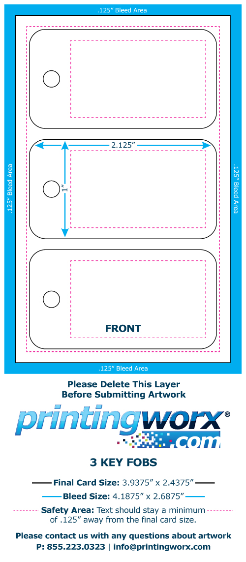 pdf fundraiser card with 2 key fob template