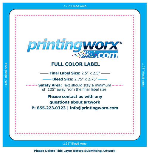 2.5 x 2.5 full color label template