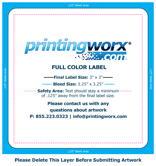 3 x 3 full color label template