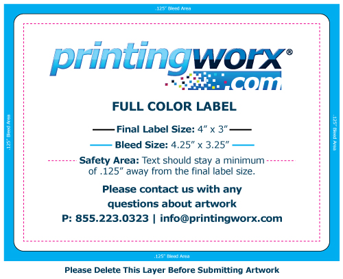4 x 3 full color label template