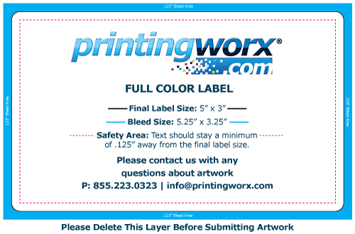 5 x 3 full color label template