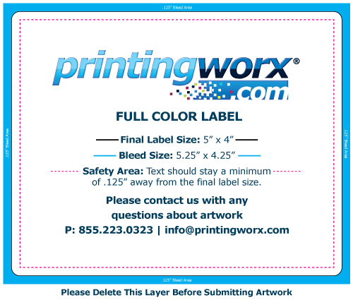 5 x 4 full color label template