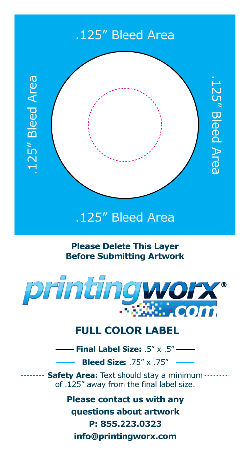 .5 x .5 full color label template