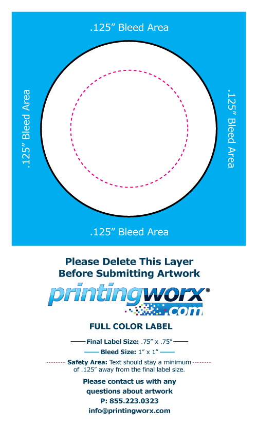.75 x .75 full color label template