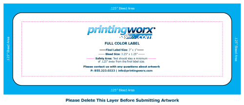 3 x 1 full color label template