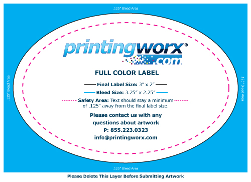 3 x 2 full color label template