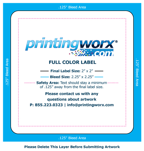 2 x 2 full color label template