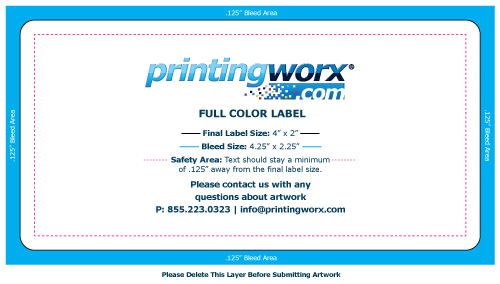 4 x 2 full color label template