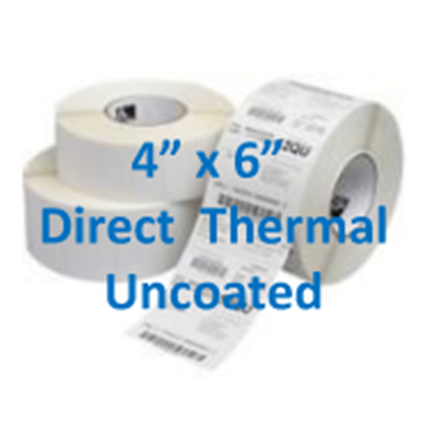 "Direct Thermal Labels – 4"" x 6"" Uncoated"