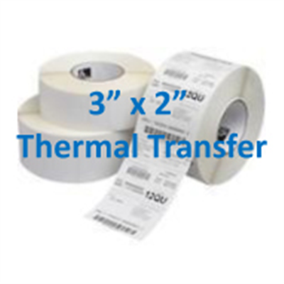 "Thermal Transfer Labels 3"" X 2"""