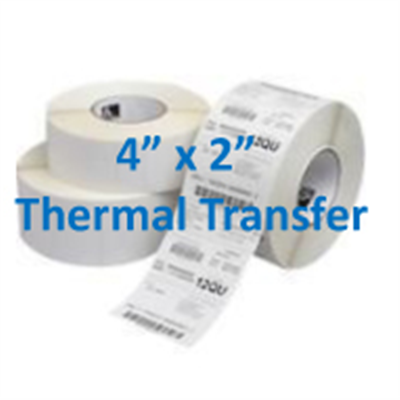 Thermal Labels 4 X 2 Transfer