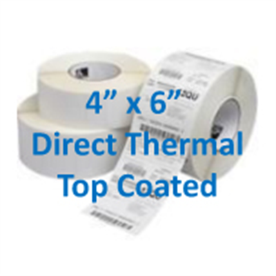 Thermal Labels 4 X 6 Direct Top Coated