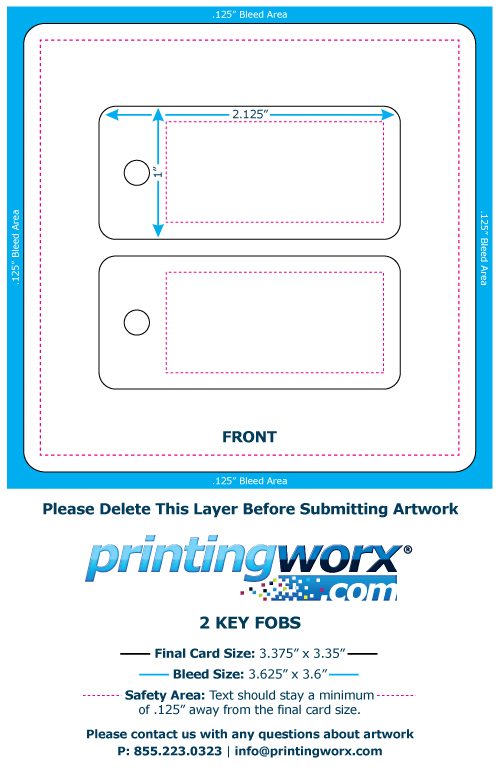 fundraiser card with key fob pdf template