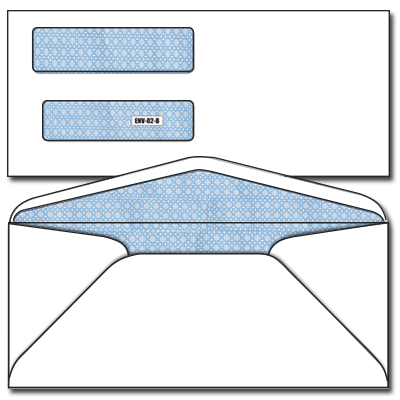 check envelopes - double window ENV-02-B