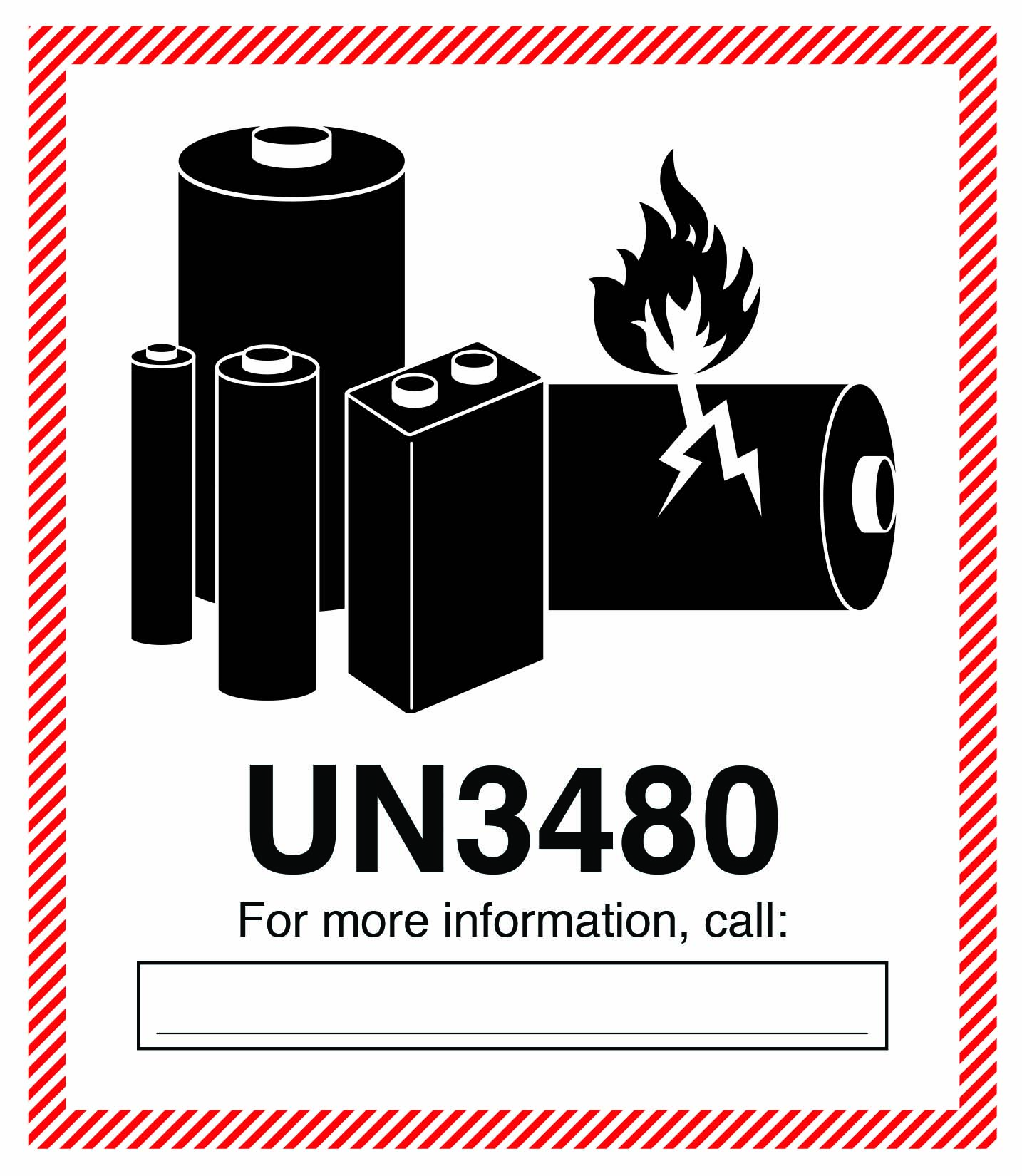 hazmat battery labels